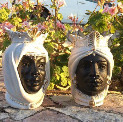 sicilia, ceramiche artistiche, artigianato, teste di moro, ceramica, ceramica italiana